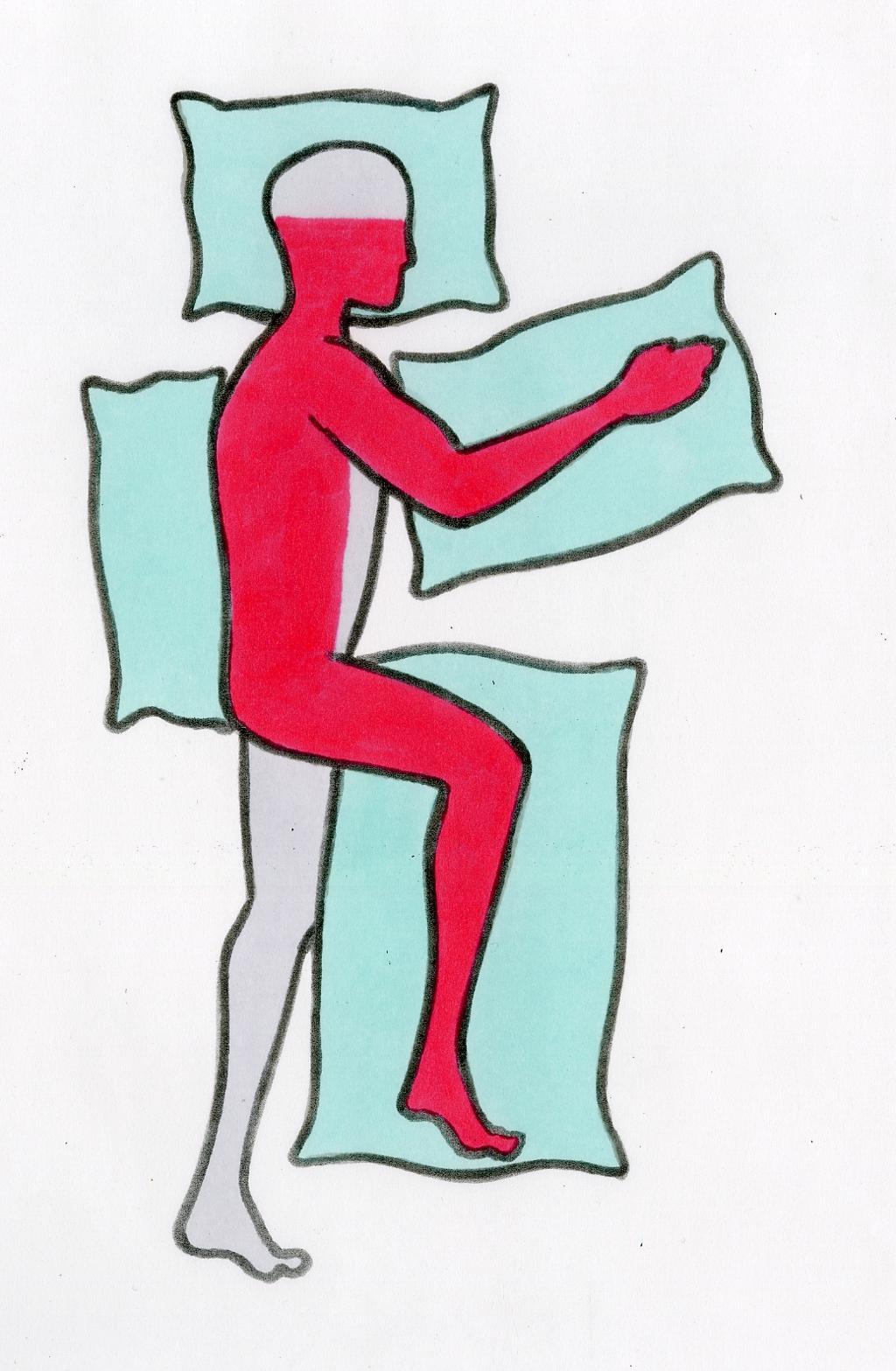 Bildet viser en pasient som ligger på frisk side