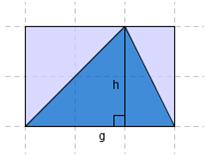 bilete av trekant, grunnlinje og høgd
