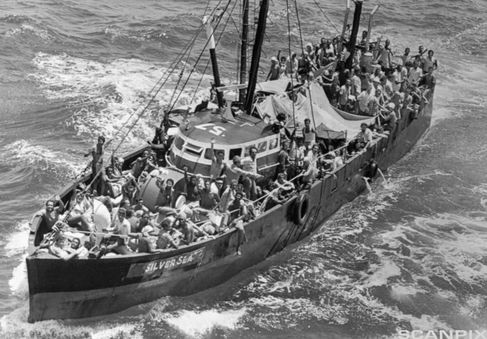 Cuban Refugee Boat Sailing for America
