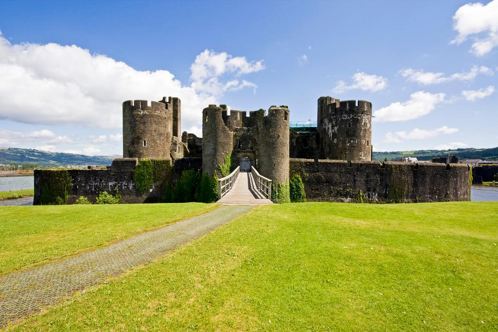 Castle in Wales. Photo.
