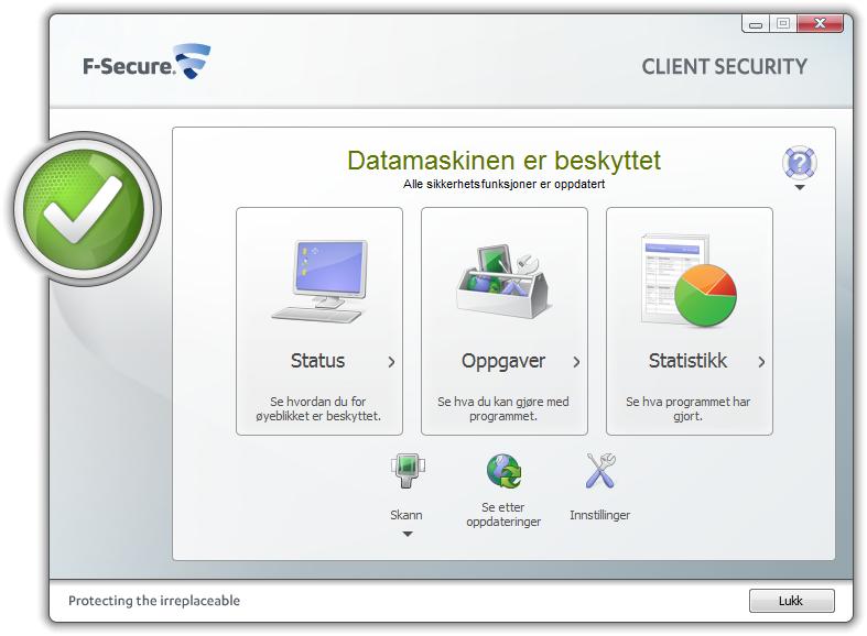 skjermbilde fra antivirusprogram. Bilde