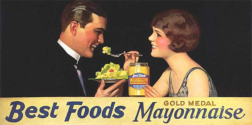 Reklame for majones på 1920-tallet.