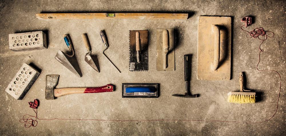 Oversikt over verktøy til murerfaget