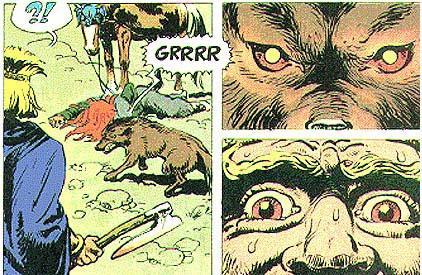 Utsnitt frå teikenserien Thorgal. Illustrasjon.