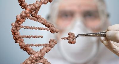 Forsker fjerner en bit fra et molekyl. Manipulert foto.