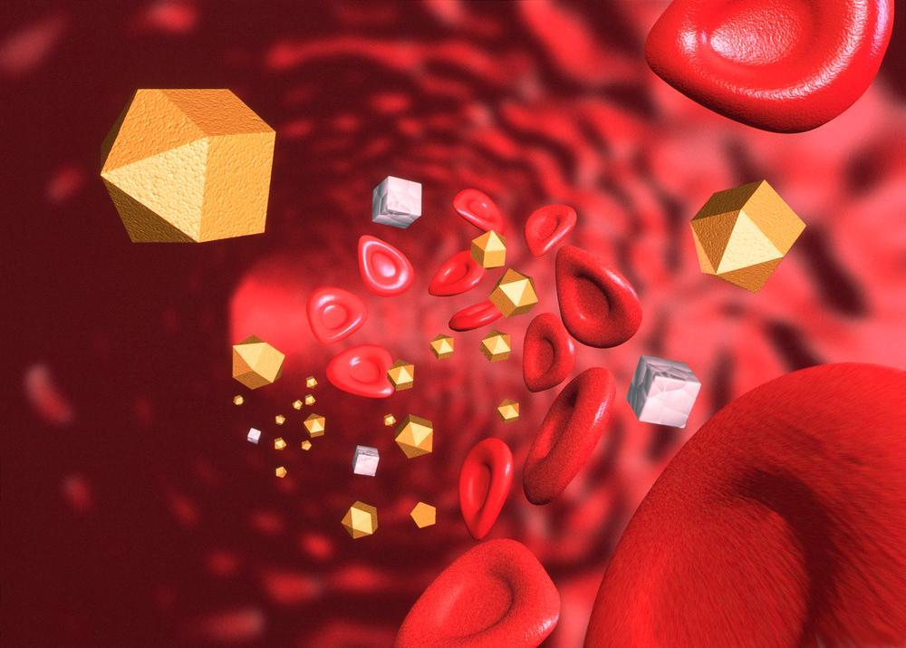 Blodstrøm med insulin. Illustrasjon.