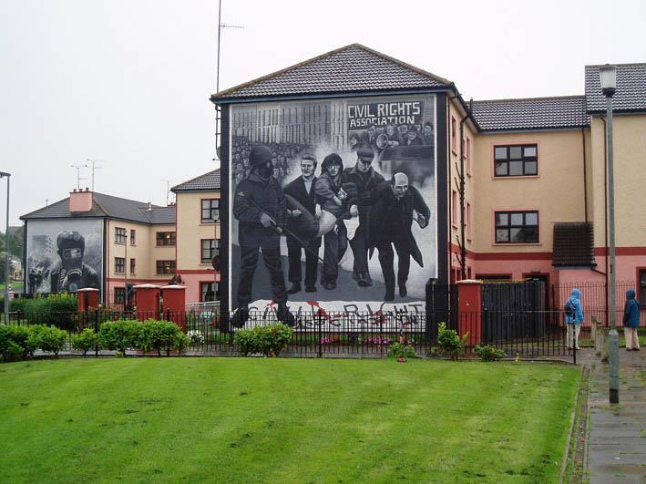 Mural of Bloody Sunday. Photo.