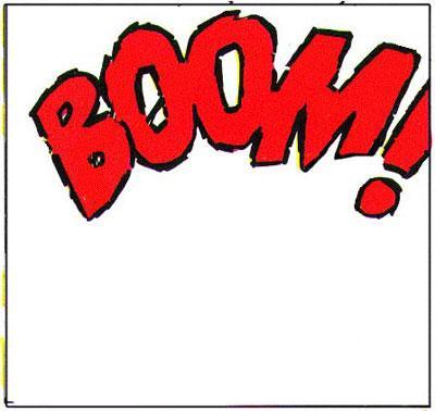 Ordet BOOM i tegneserierute. Illustrasjon.