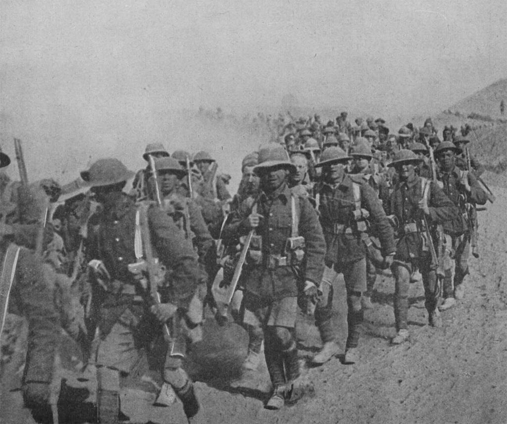 Britiske tropper i Mesopotamia, det som i dag er Irak, under første verdenskrig. Foto.