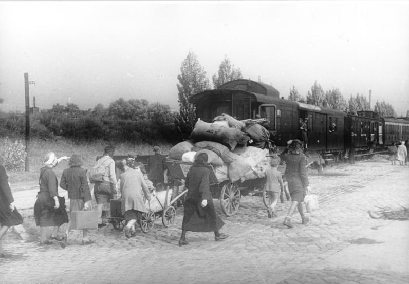 Tyske flyktninger i 1946. Foto.