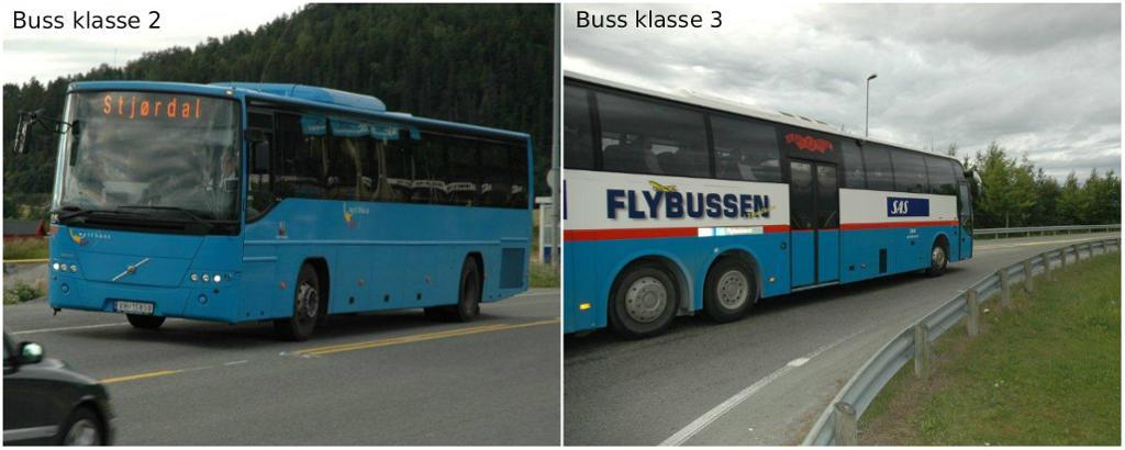 To busser. Foto.