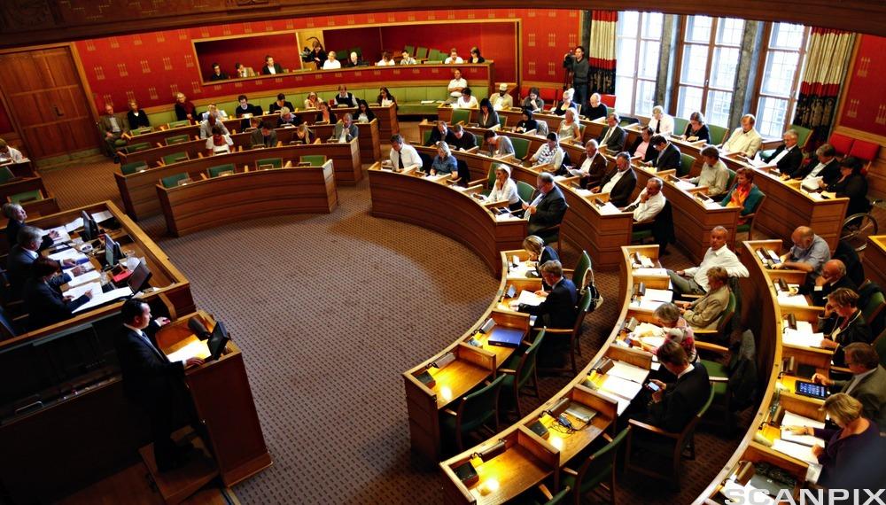 Byårdssalen i Oslo Rådhus. Foto.