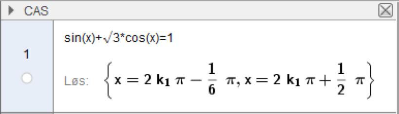 GeoGebra sin(x) √3*cos(x)\