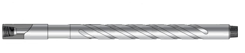 Vektrør med spiral. Illustrasjon.