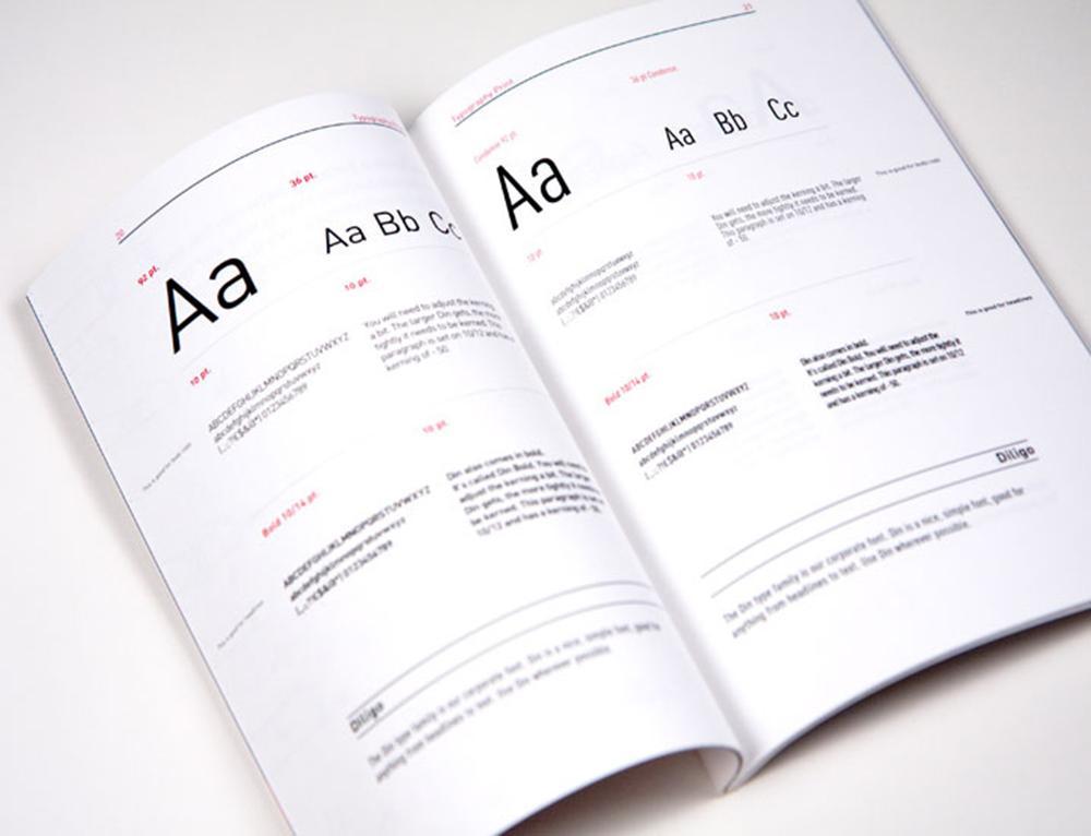 Eksempler på bruk av typografi i ulike sammenhenger. Bilde.