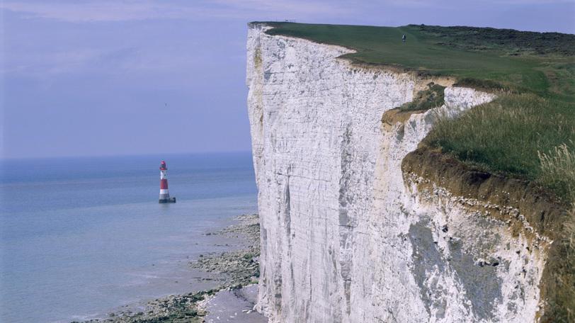 Klippene ved Dover i England. Foto.