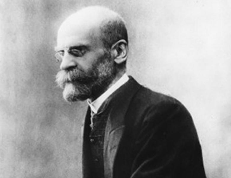 Portrett av Émile Durkheim. Foto.
