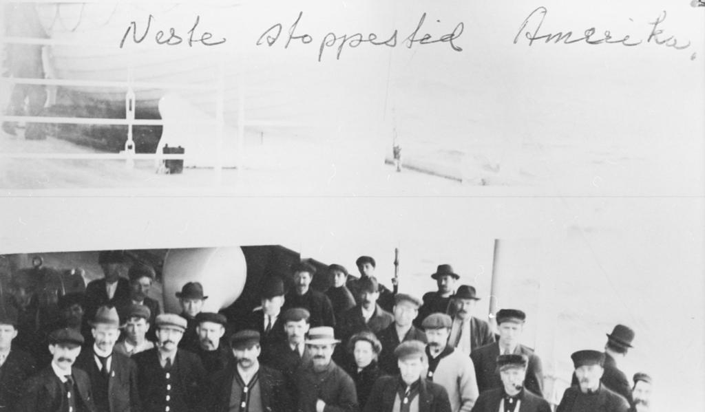 Ole Hatli fra Rindal utvandret til Amerika i 1904. Bilde fra Amerikabåten. Foto