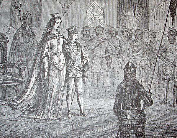 Erik av Pommern krones til Nordens konge. Tresnitt.