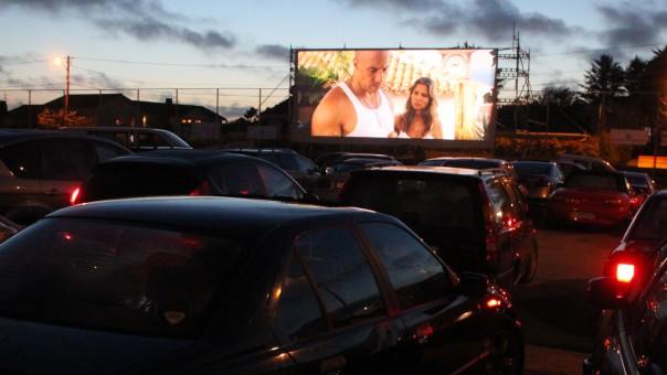 Drive in kino. Foto.