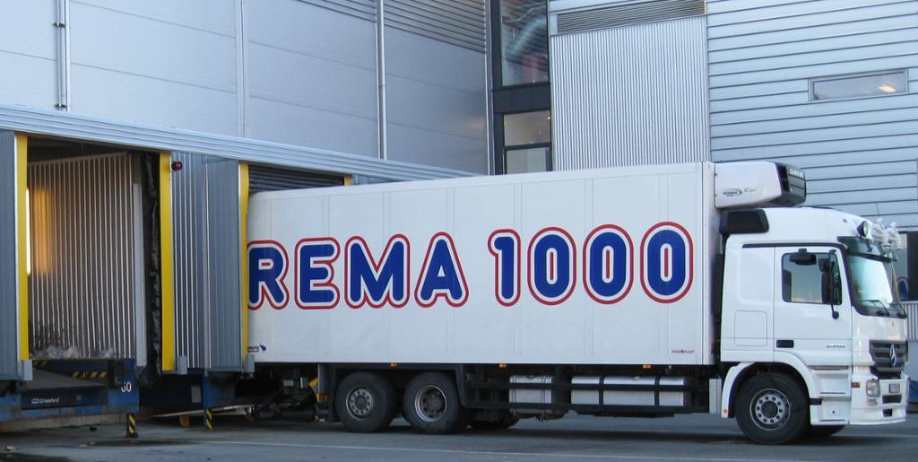 REMA 1000 sitt sentrallager på Langhus.