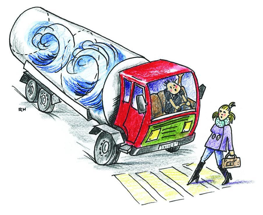 Lasten lever når vi transporterer i tank