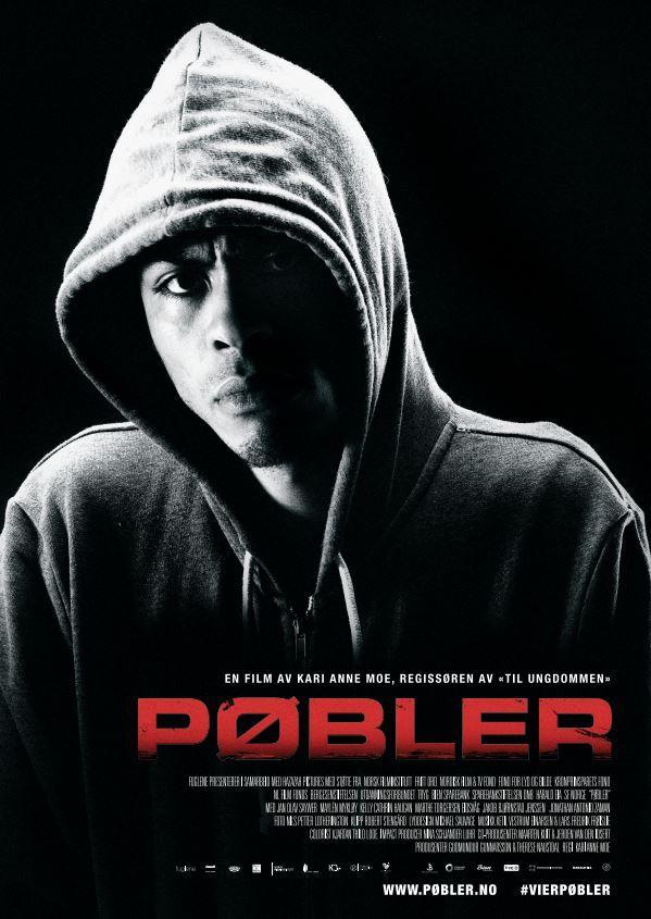 Filmplakat til dokumentarfilmen Pøbler. Foto.