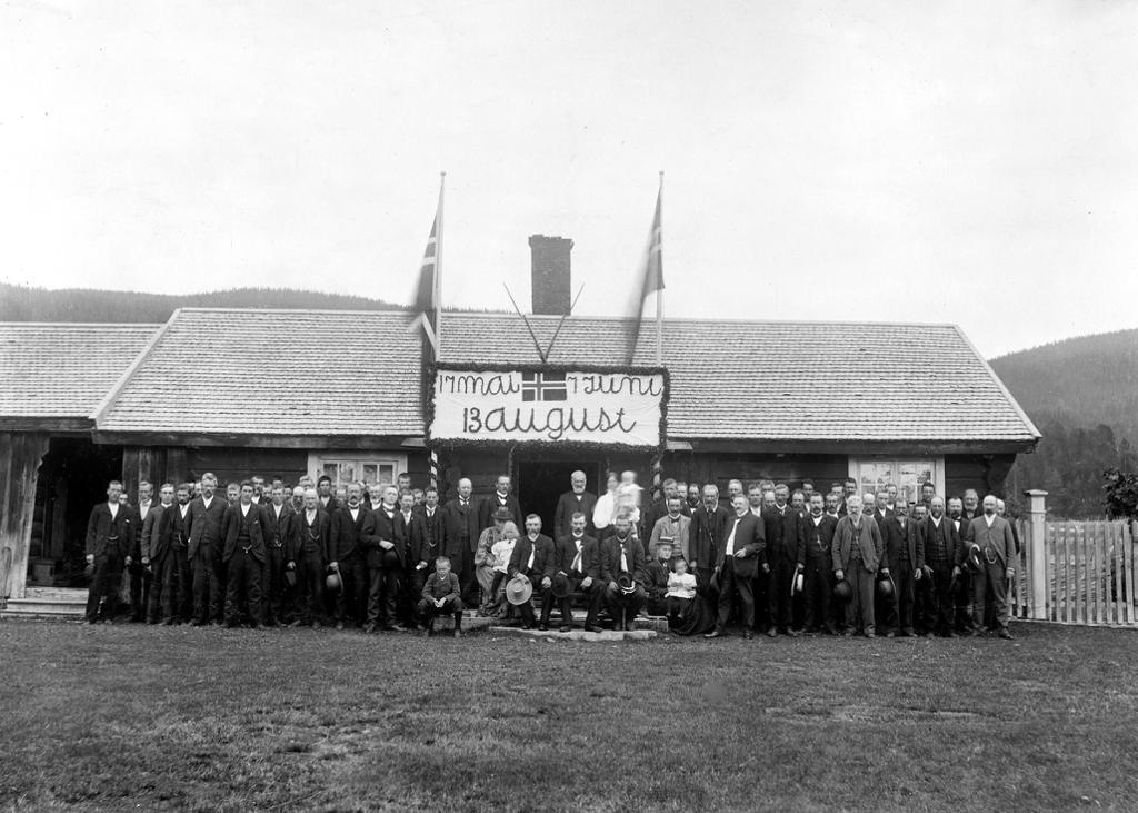 Folkeavstemningen 1905 i Åmot, Hedemark. Foto.