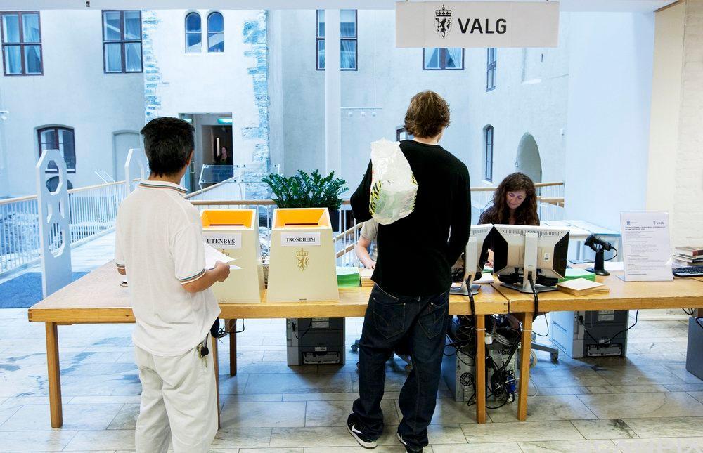 forhåndsstemming ved valg. Foto.