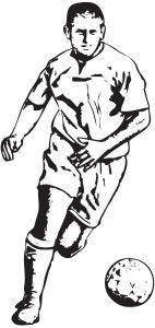 Fotballspiller. Illustrasjon.