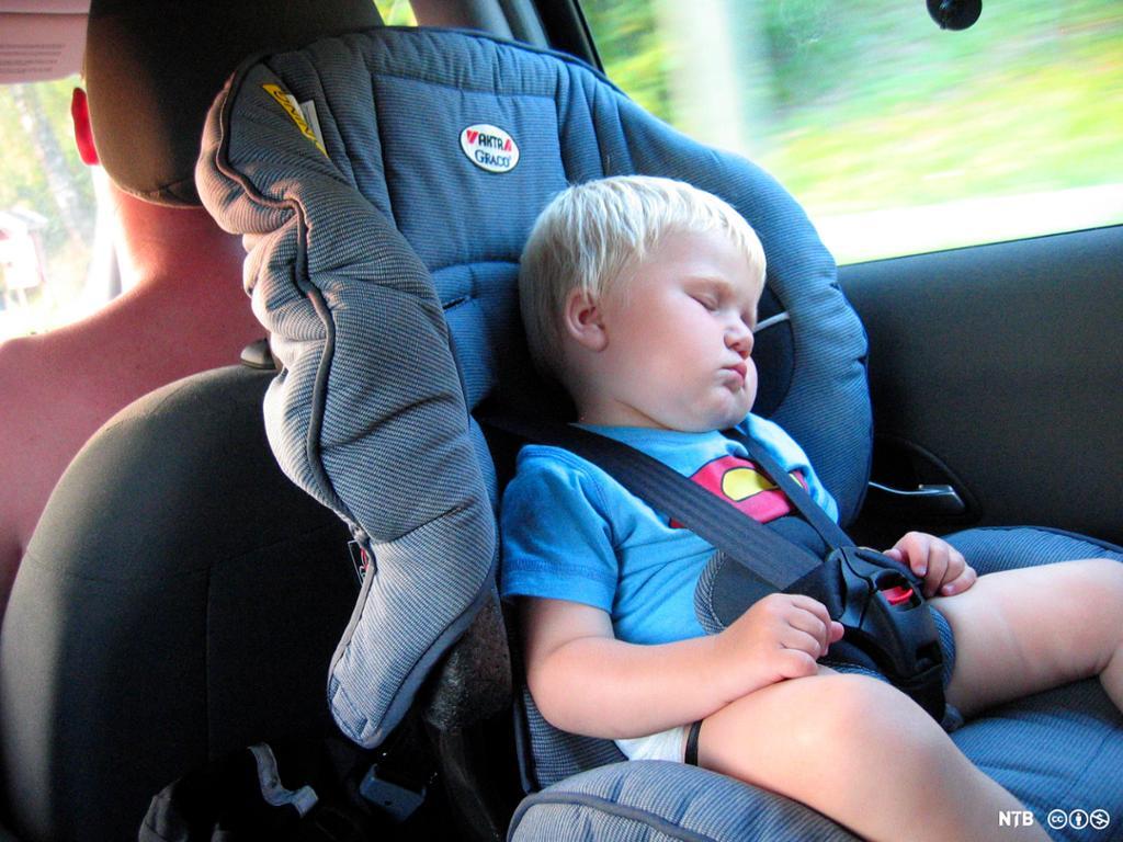 Barn sover. Foto.