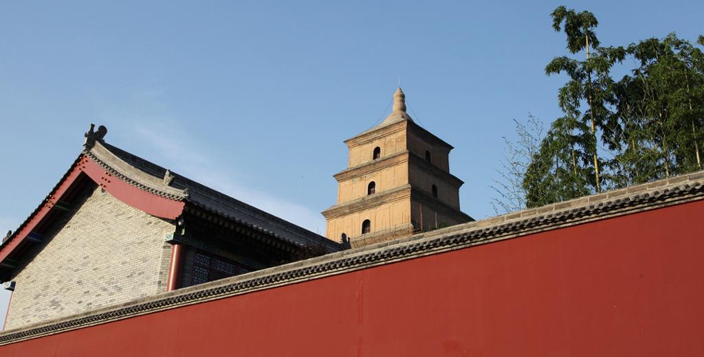 Den store gåsepagoden i Xi'an. Foto.