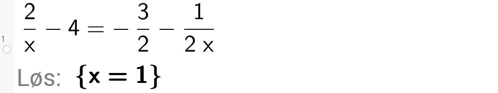 Løse likninger i GeoGebra. Bilde.