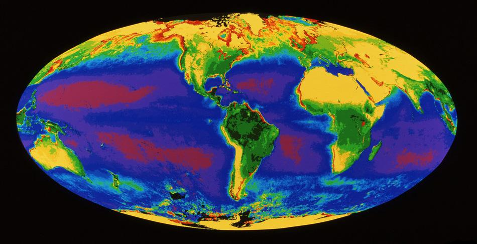 Satelittbilde av jordkloden.