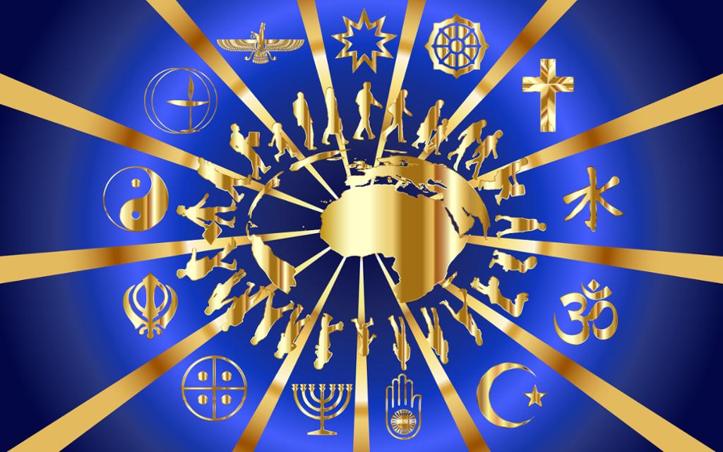 Religiøse symboler. Illustrasjon.