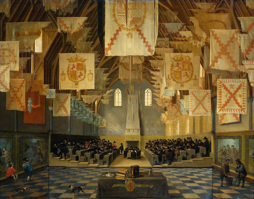 Stenderforsamlingen Staten Generaal i Nederland i 1651. Maleri.