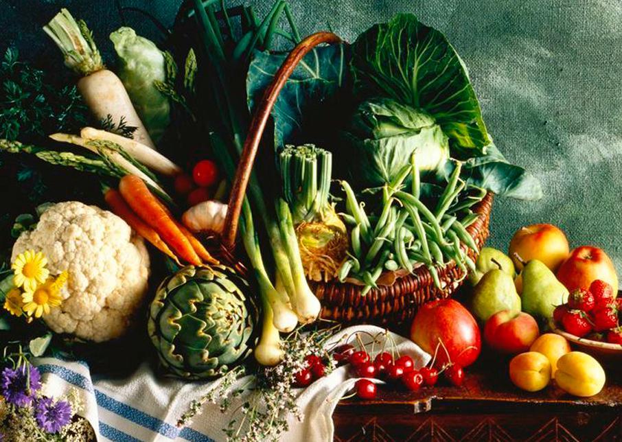 Matvaregruppe: Grønnsaker, frukt, bær og belgfrukter.Foto.