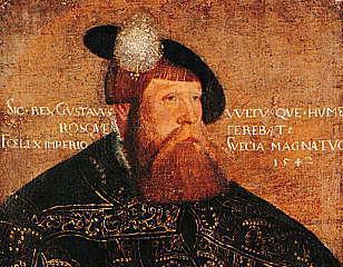 Portrett av Gustav Vasa, konge av Sverige 1523-1560. Maleri.