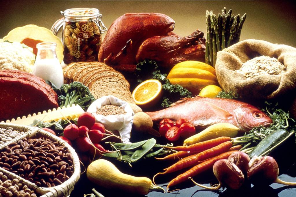 Ulike sunne matvarer. Foto.