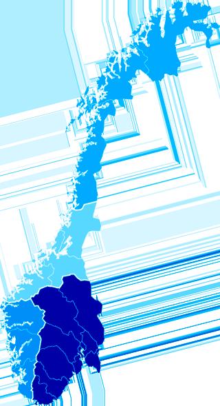 Helseregioner i Norge. Kart.