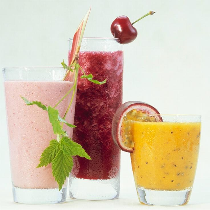 3 glass smoothie.Foto.