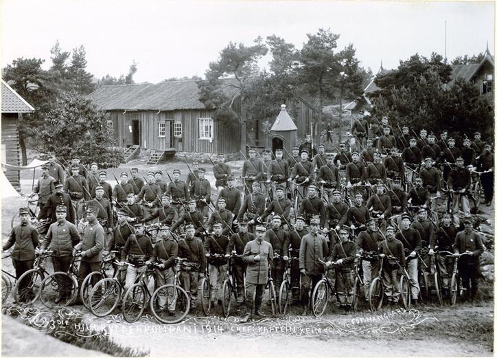 Hjulrytterkompaniet på Gimlemoen i 1914
