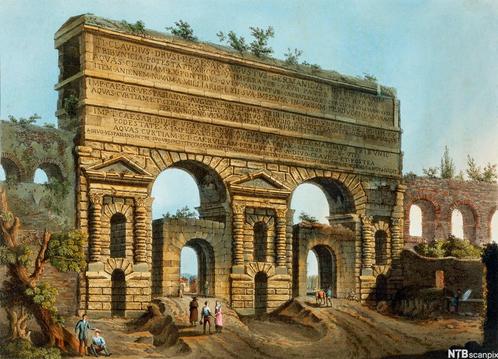 Aqua Claudia i Roma. Illustrasjon.