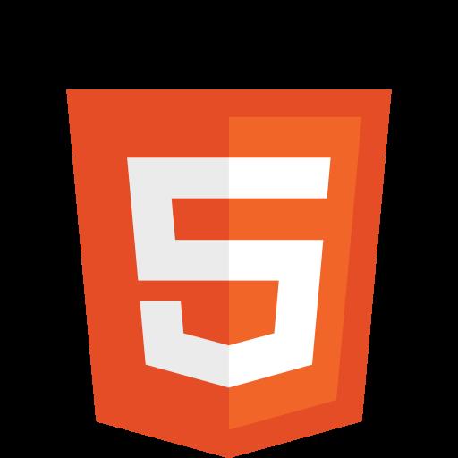 HTML5-logo. Illustrasjon.