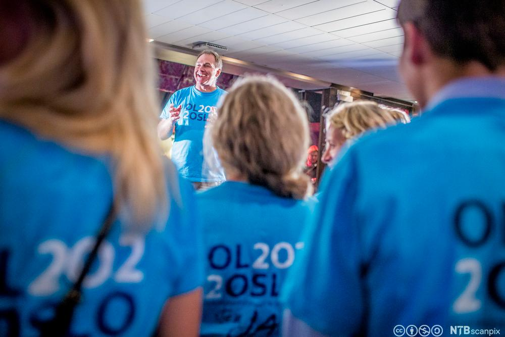 Inge Andersen under valgvaken til valget om OL i Oslo i 2022.