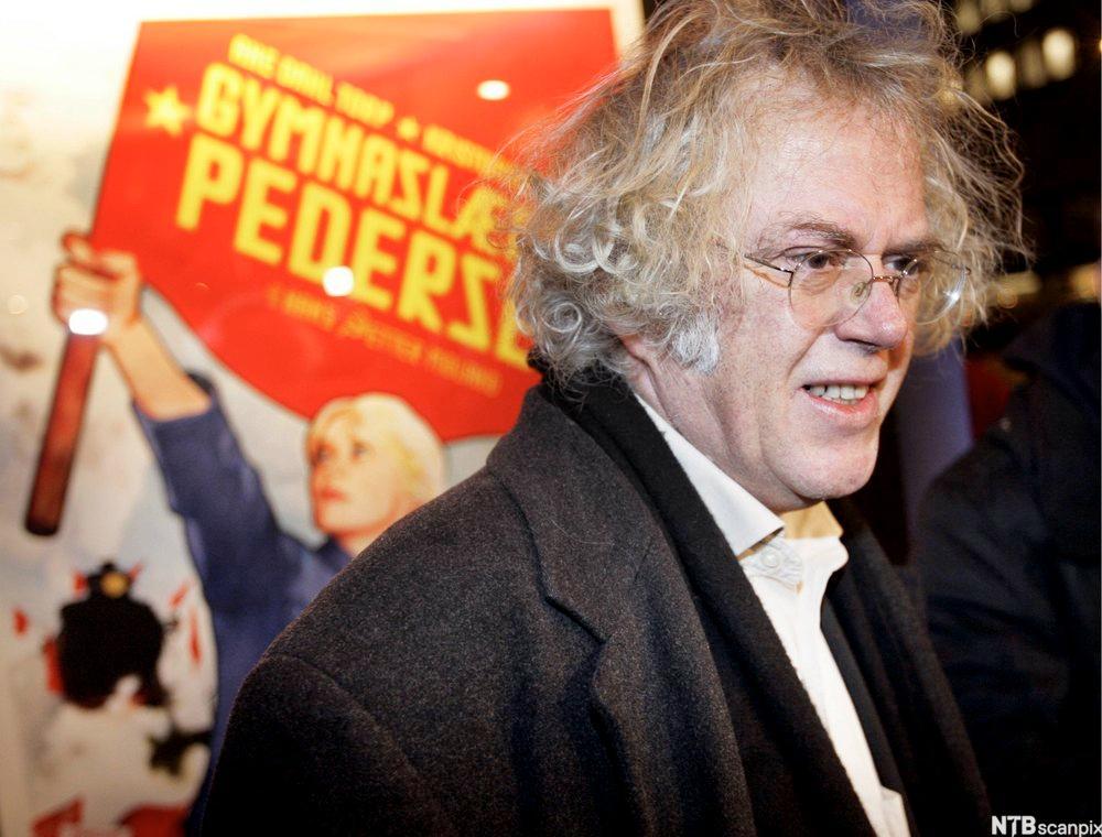 Forfatteren Dag Solstad på premièren til filmen basert på hans roman om gymnaslærer Pedersen.
