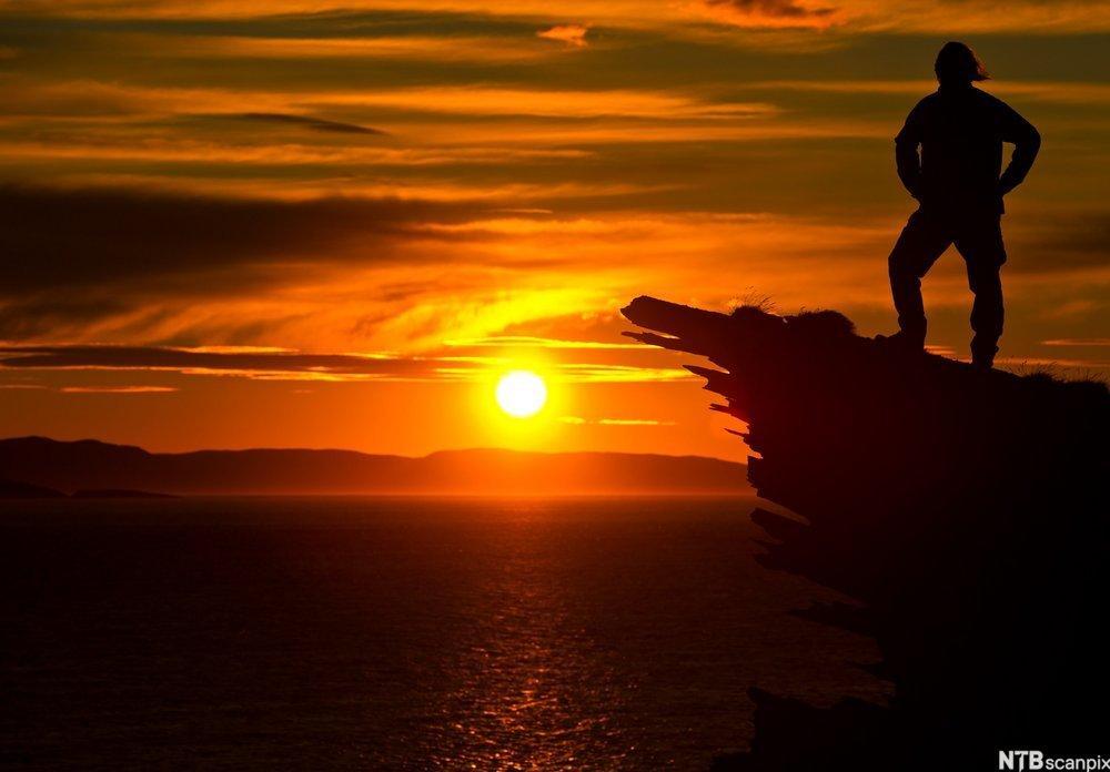 Nordmann i solnedgang