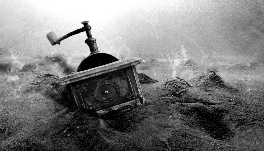 Kvern på havbunn. Foto.