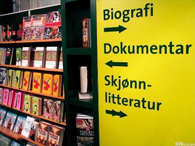 Bøker i bokhandel. Foto.