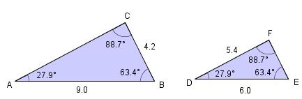 Formlike trekanter